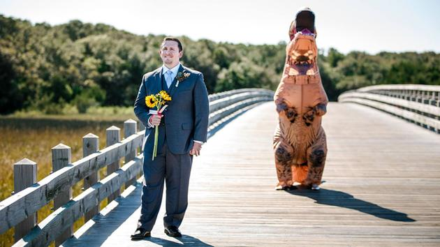 Couples north carolina wedding first look gets rexy abc13 beth and tom gardners wedding at bald head island junglespirit Image collections