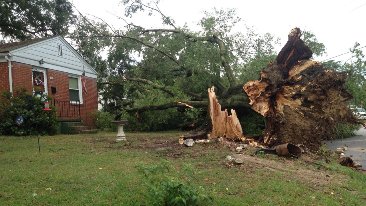 An intense storm left a trail of damage in Sanford Wednesday.