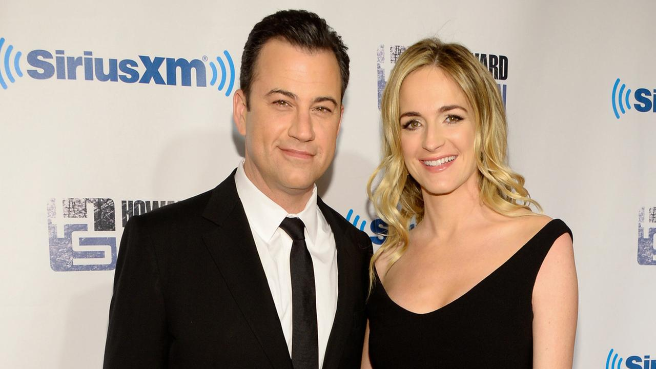 Talk show host Jimmy Kimmel and wife Molly McNearney.