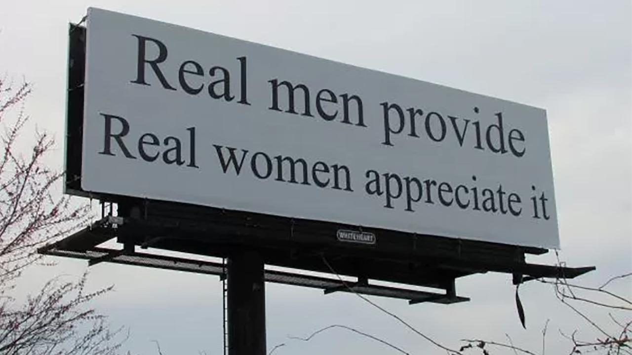 A billboard on westbound Business 40 between Greensboro and Winston-Salem is raising eyebrows.