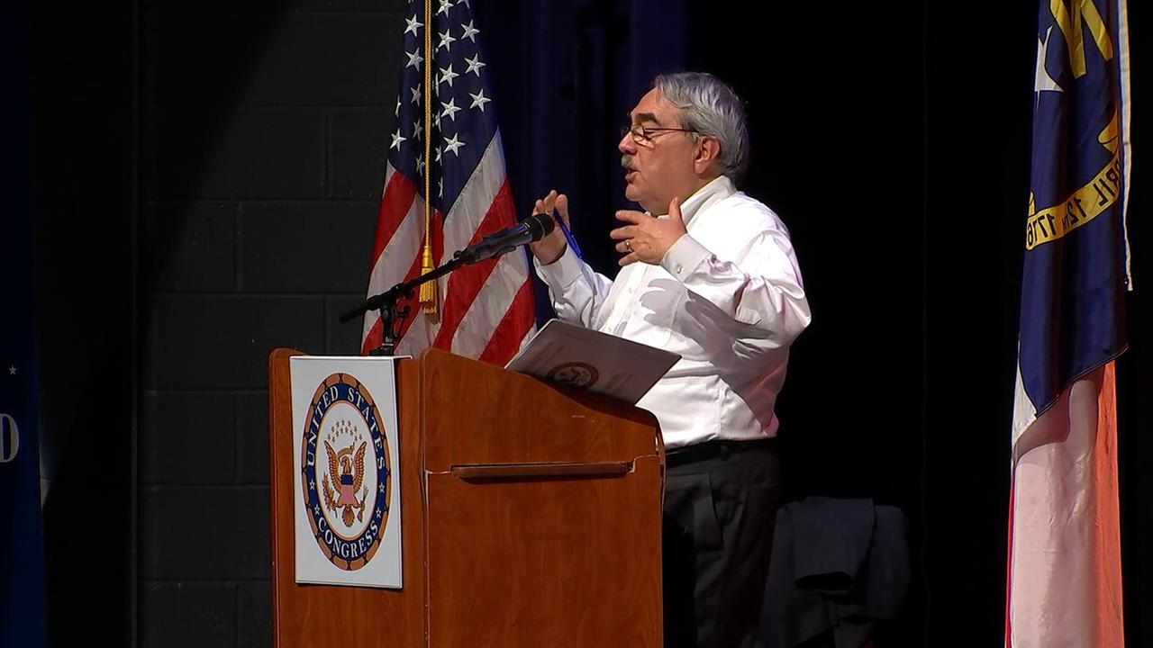 Congressman G. K. Butterfield at a community discussion in Durham