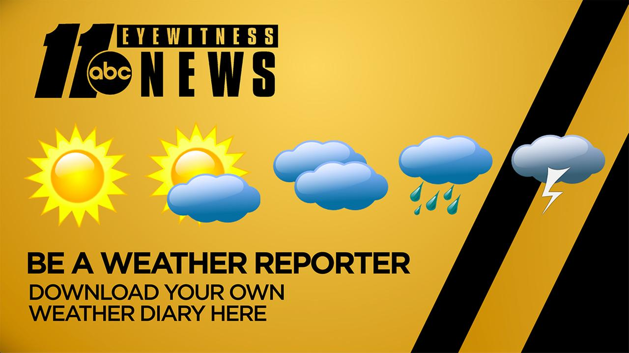 Record the weather with the ABC11 Weather Diary!