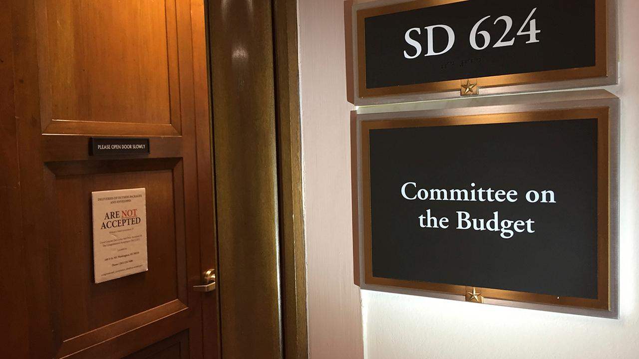 The Capitol Hill office of the Senate Budget Committee, Wednesday, March 15, 2017.