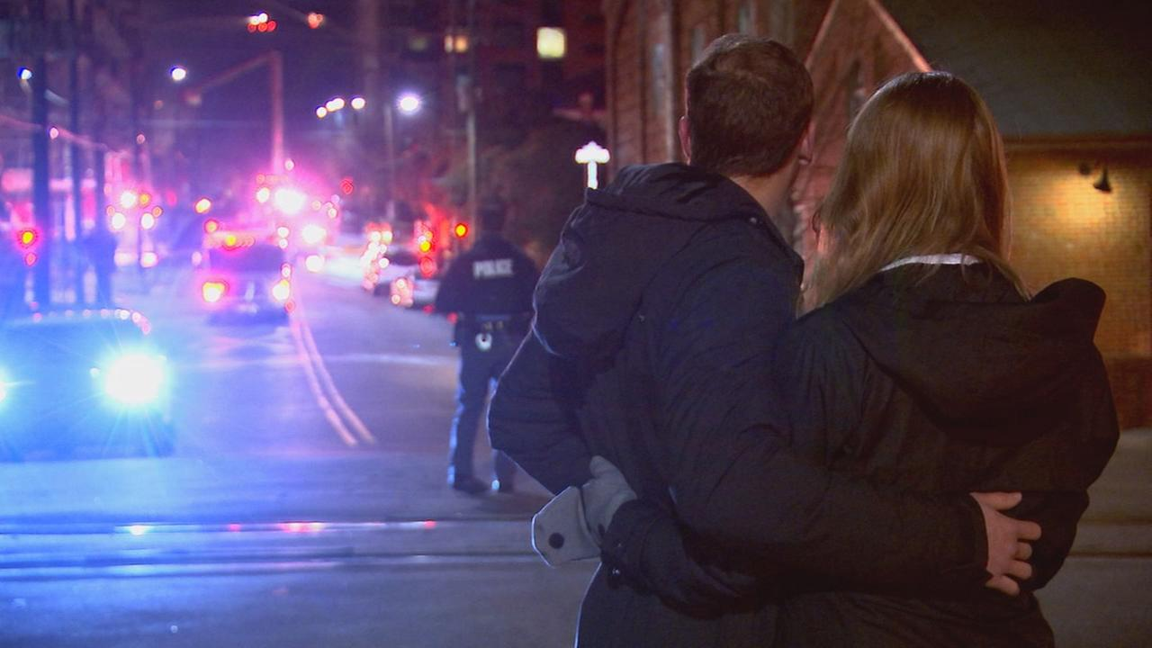 Couple watches as downtown Raleigh fire engulfs buildingABC11 Photographer/Adolfo Ibarra