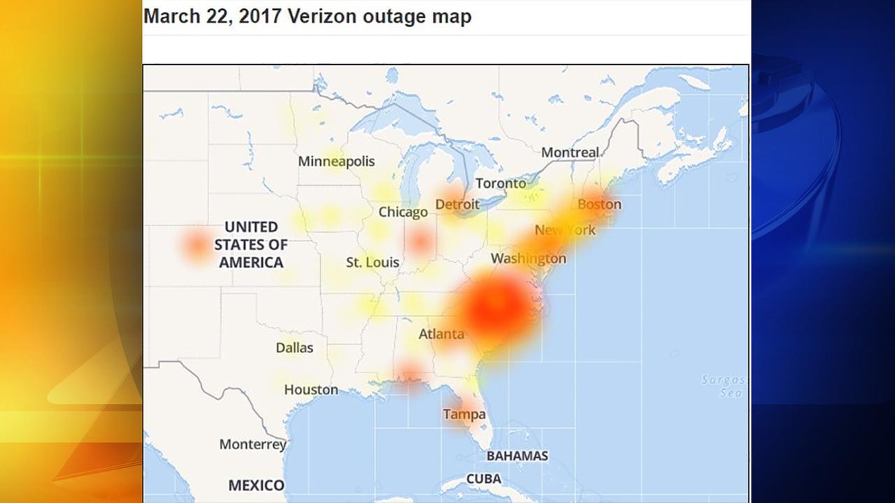 Verizon Wireless outage fixed