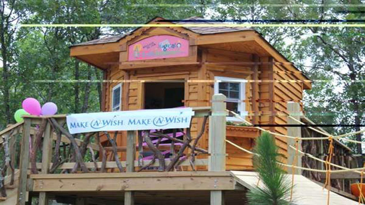 Make-A-Wish tree house for Moore County girl