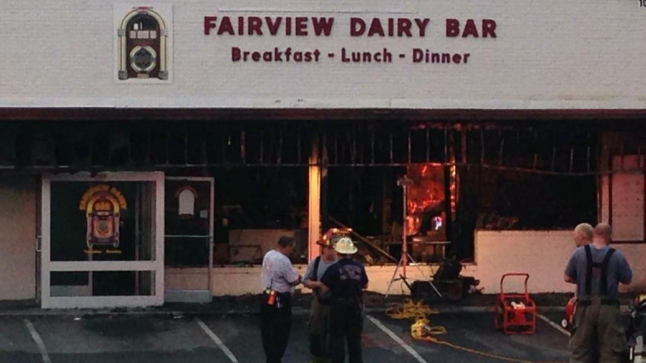 A fire destroyed one of Sanfords oldest eateries, the Fairview Dairy Bar, early Tuesday morning.