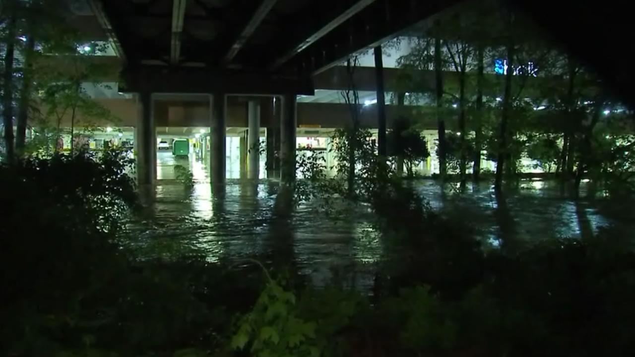 Crabtree Creek flooding in Raleigh.