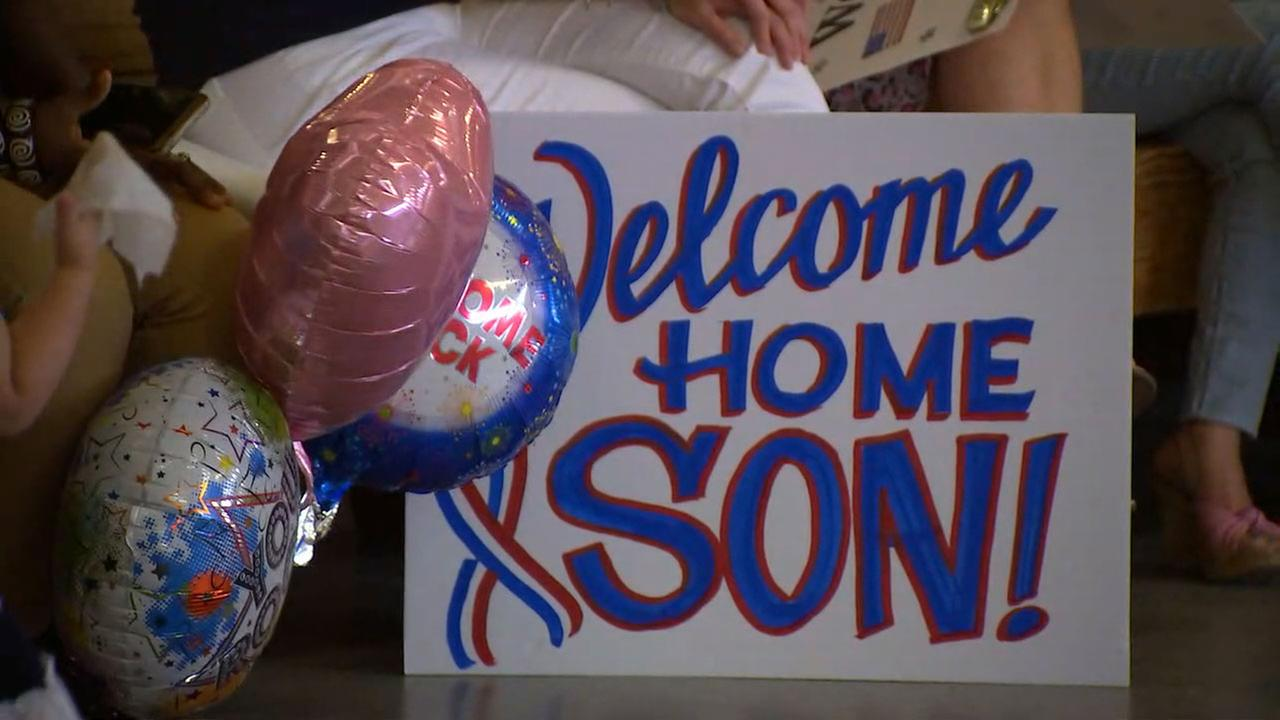 The 321st Field Artillery Regiment returned home from deployment Thursday morning