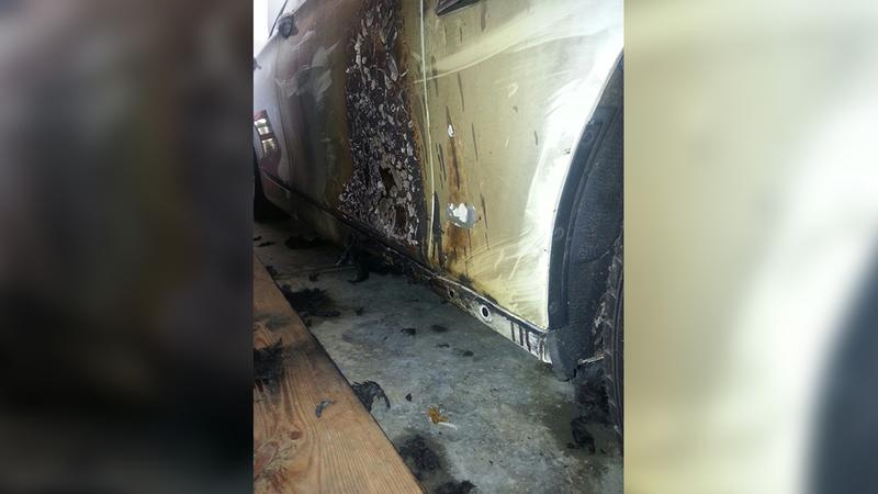 Danielle Emerson's car caught fire inside of her garage