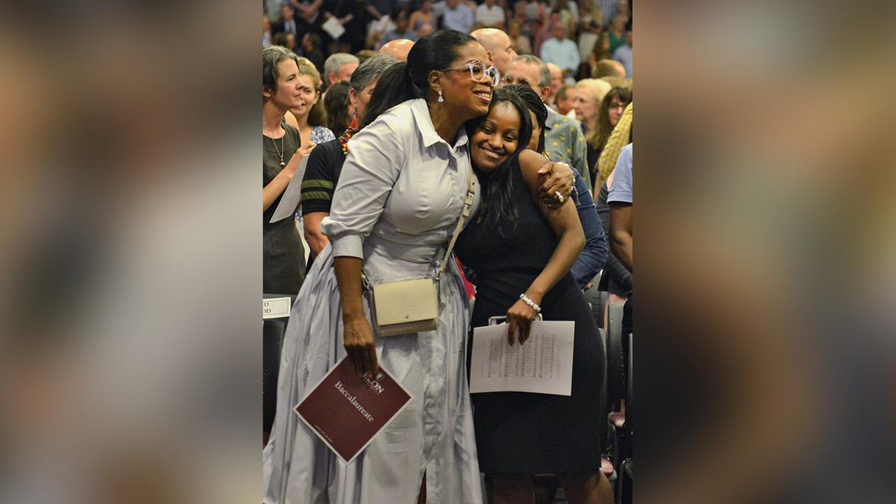 Oprah attends Elon University graduation