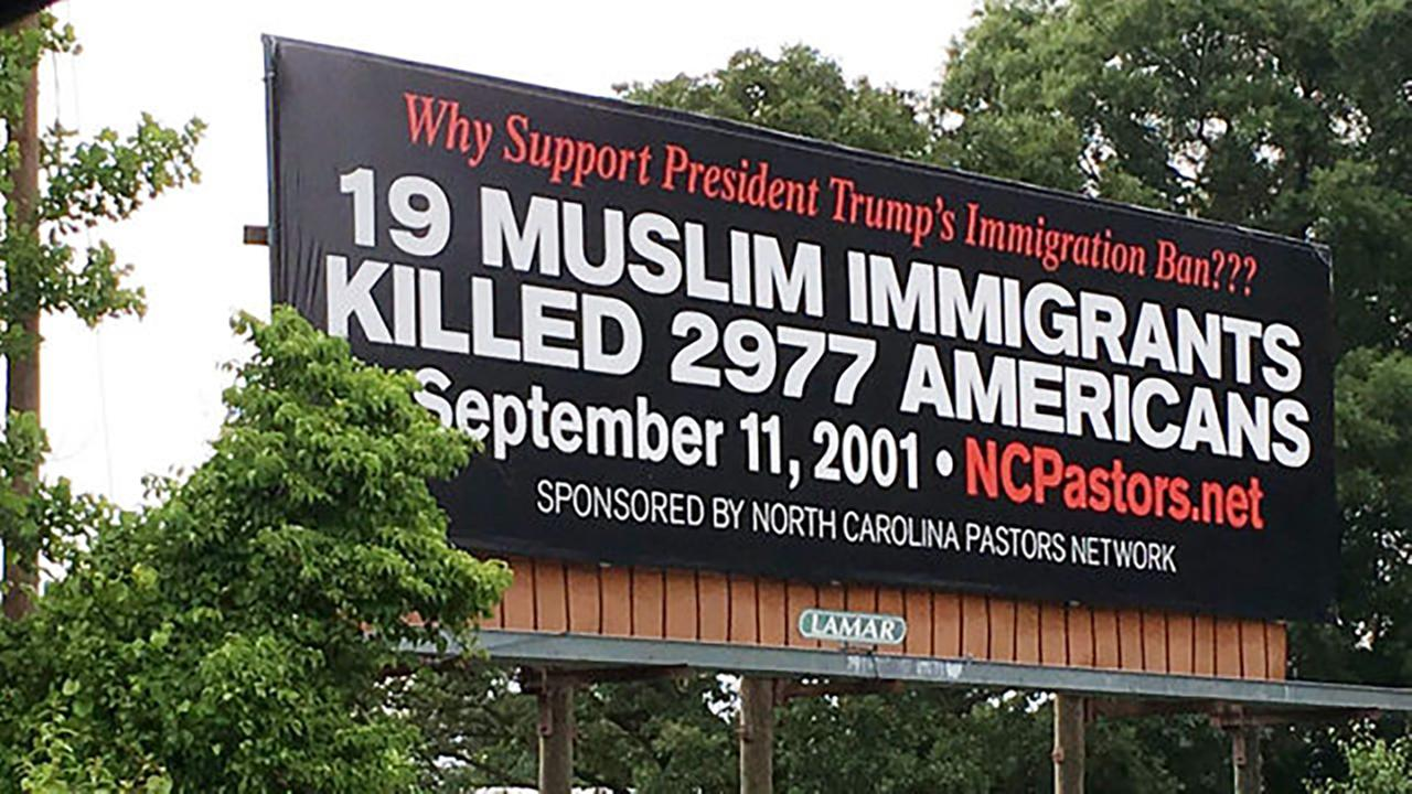 Billboard along Interstate 40 in Catawba County