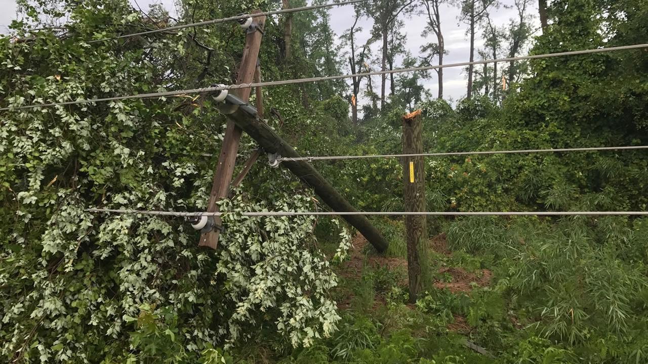 Power lines were ripped down (Jim Schumacher photo)