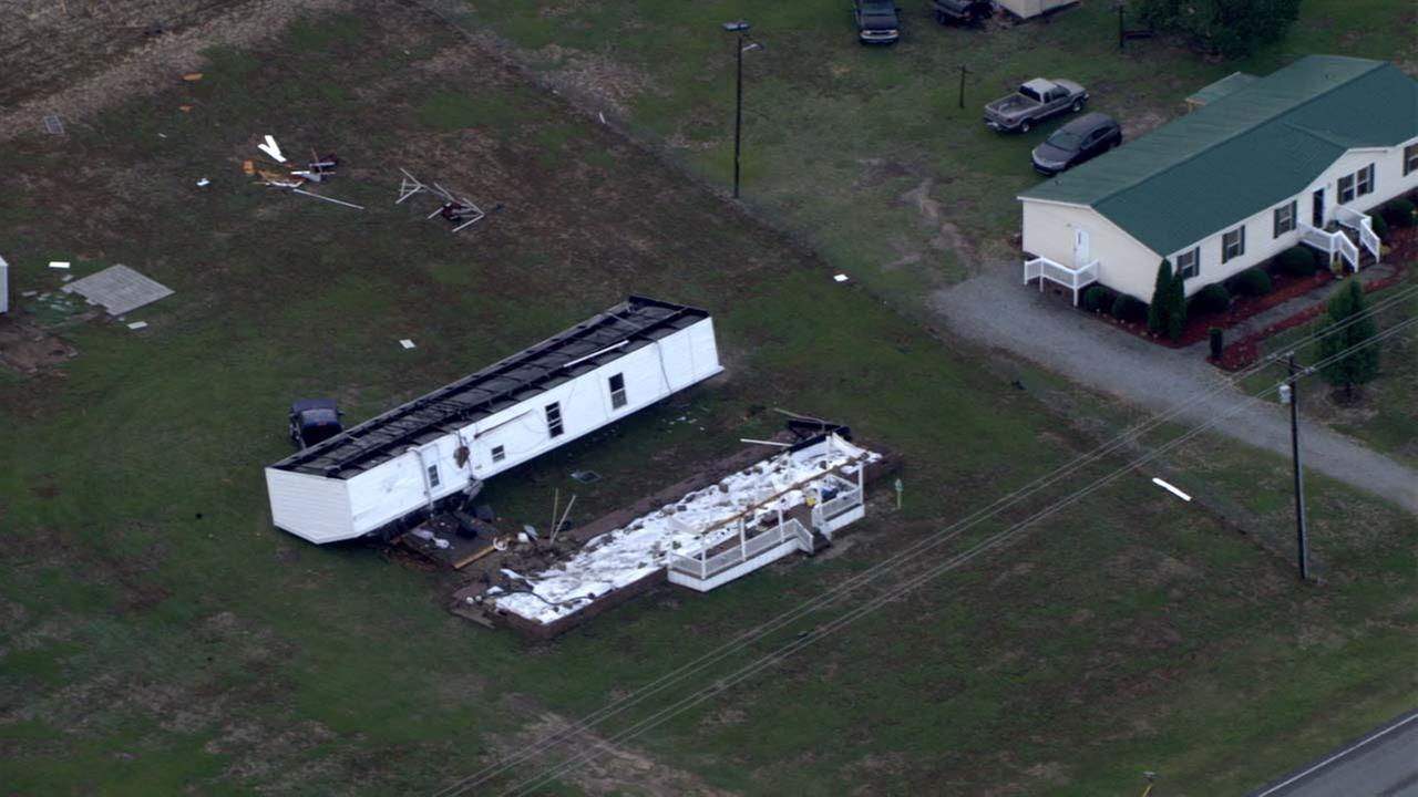 Damage in Sampson County from Chopper 11 HD