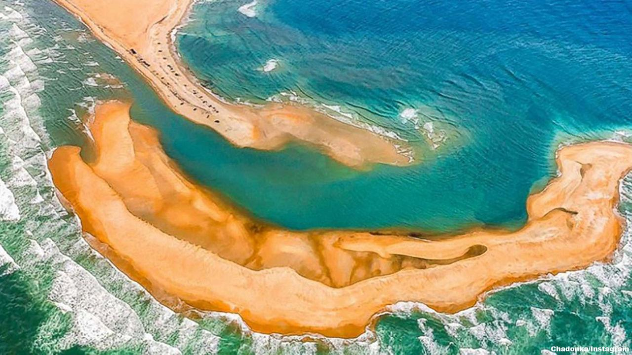 A new island, being called Shelly Island, has appeared off the coast of North Carolina near Cape Hatteras.