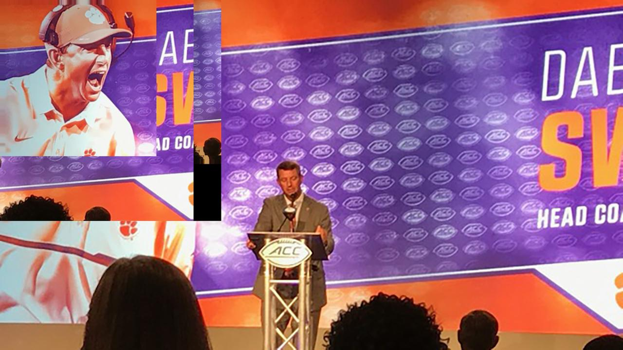 Dabo Swinney discusses his national champion Clemson Tigers.Charlie Mickens