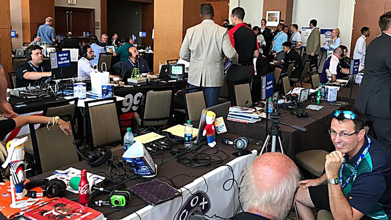 Radio row at ACC KickoffCharlie Mickens