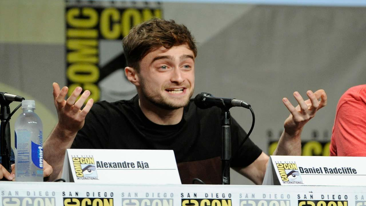 Daniel Radcliffe attends the RADiUS-TWC Horns panel on Day 2 of Comic-Con International on Friday, July 25, 2014, in San Diego.