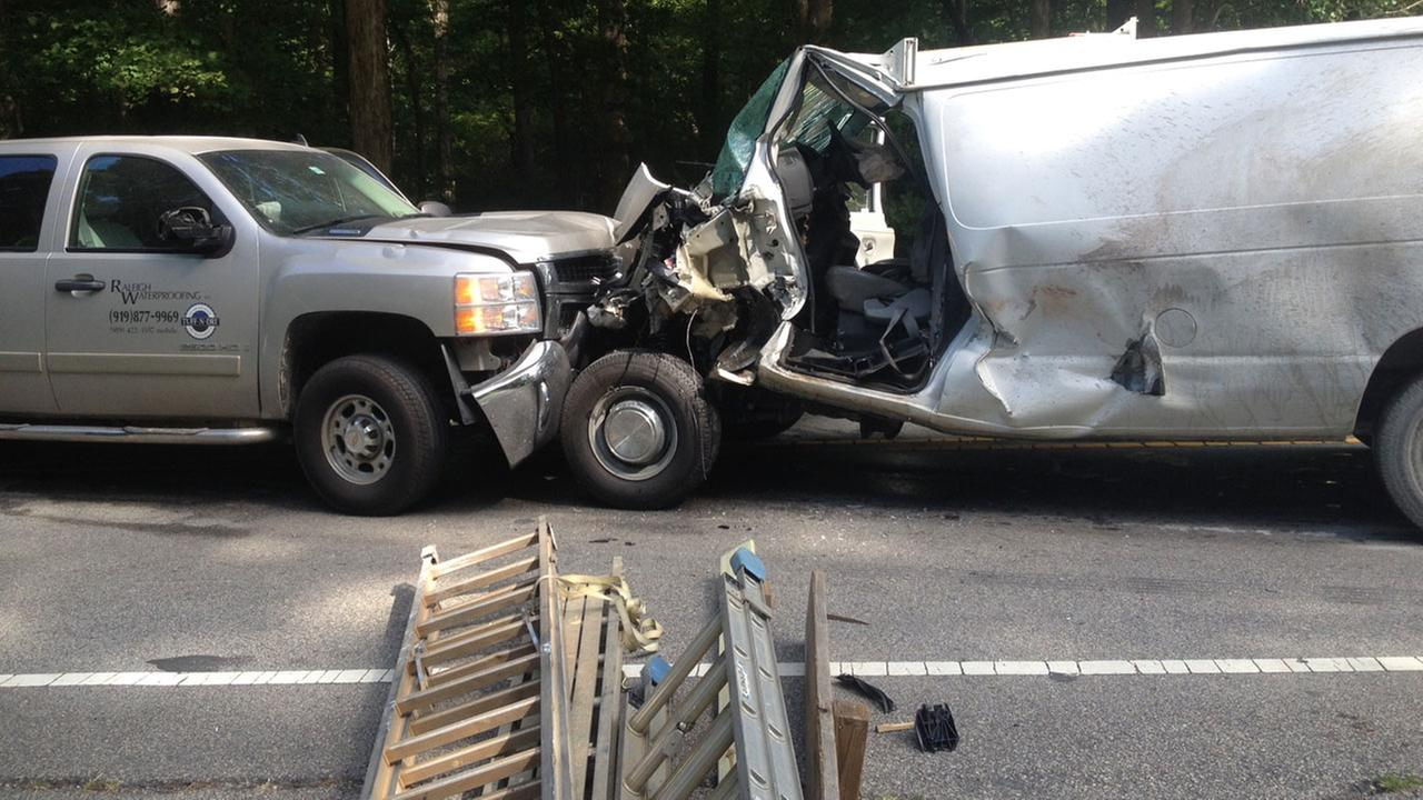 Accident in Johnston County shuts down part of NC-42