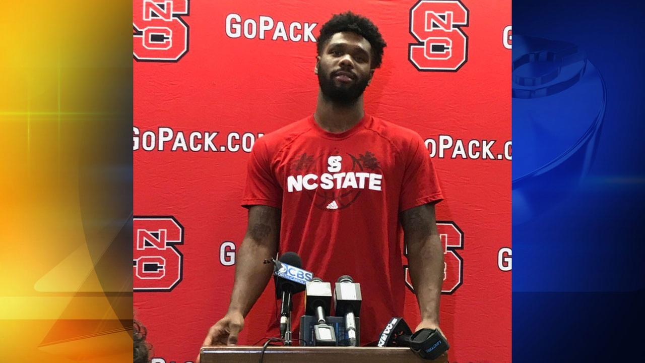 Lennard Freeman at a kick-off event before NC States trip to Italy, Tuesday, August 1, 2017.