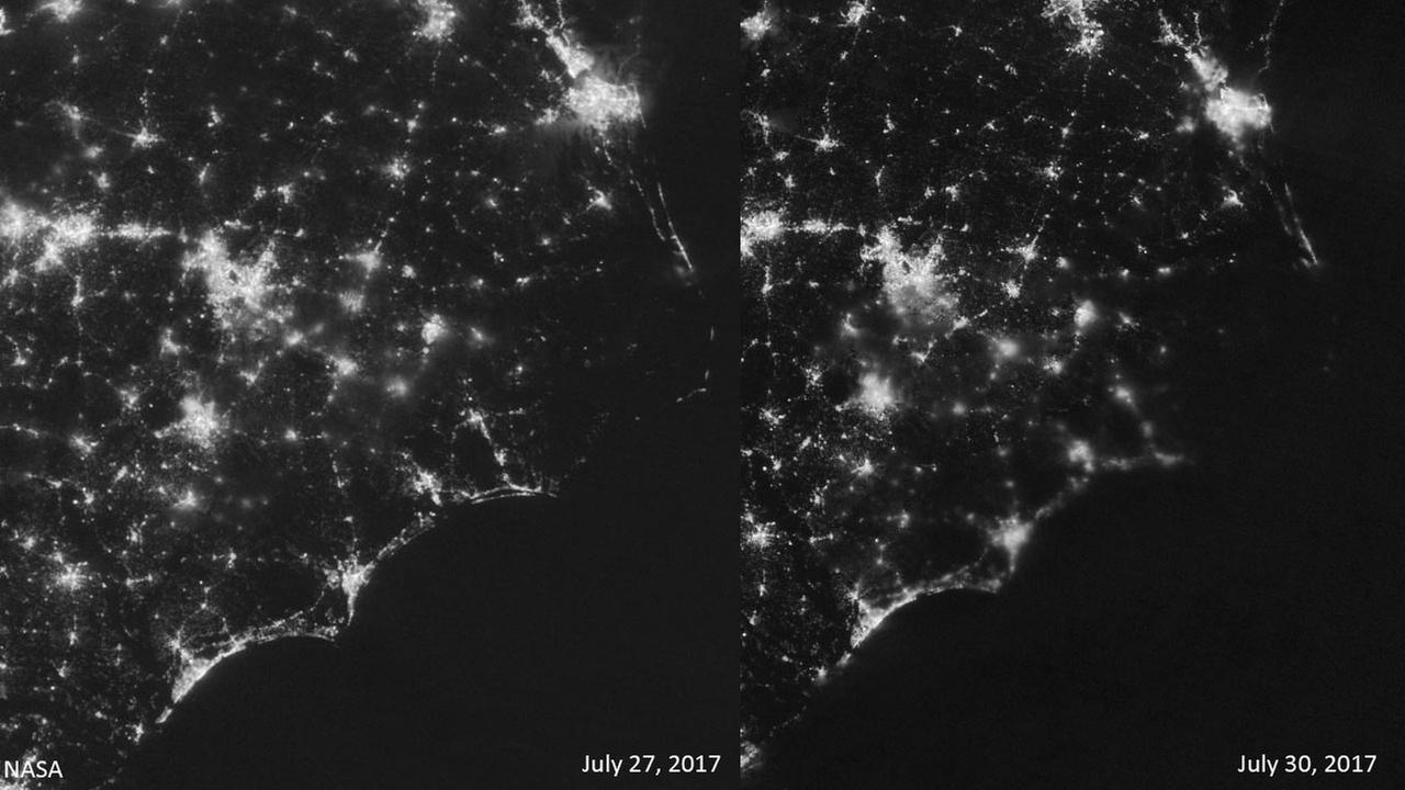 Power Outage In Outer Banks Can Be Seen From Space