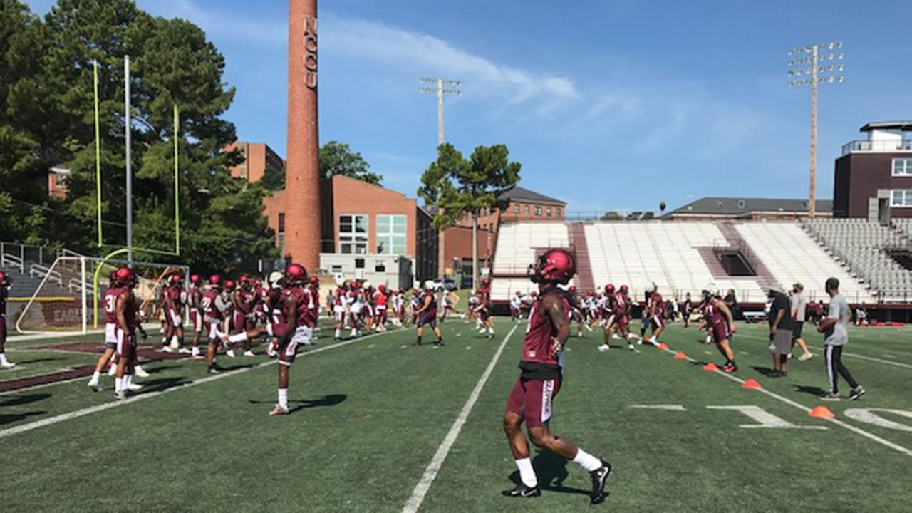 Football camps kick off at Duke University, North Carolina Central University, UNC Chapel Hill, and North Carolina State University.ABC11 Photojournalist Charlie Mickens