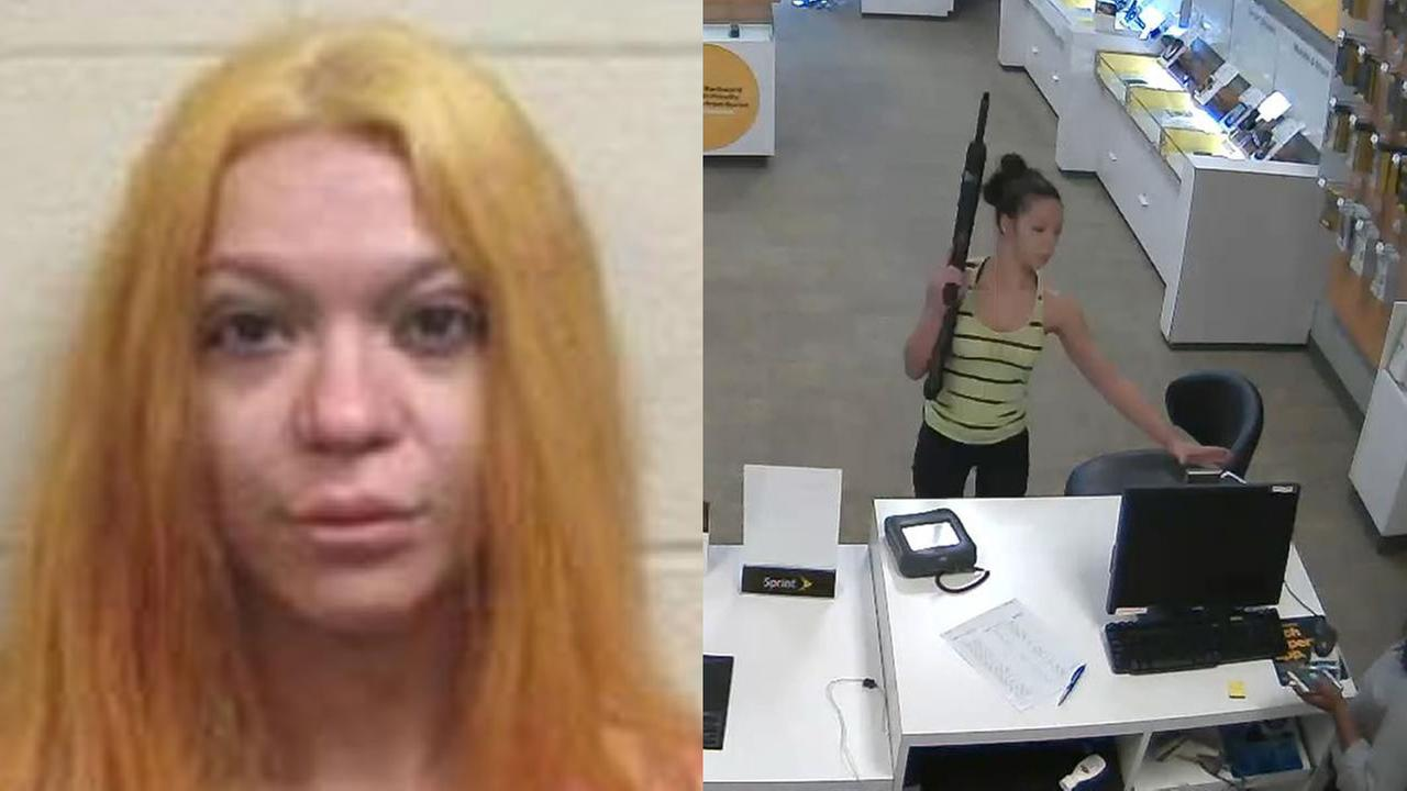 Hillary Cheyenne Carver is suspected in a Fayetteville Sprint Store robbery.