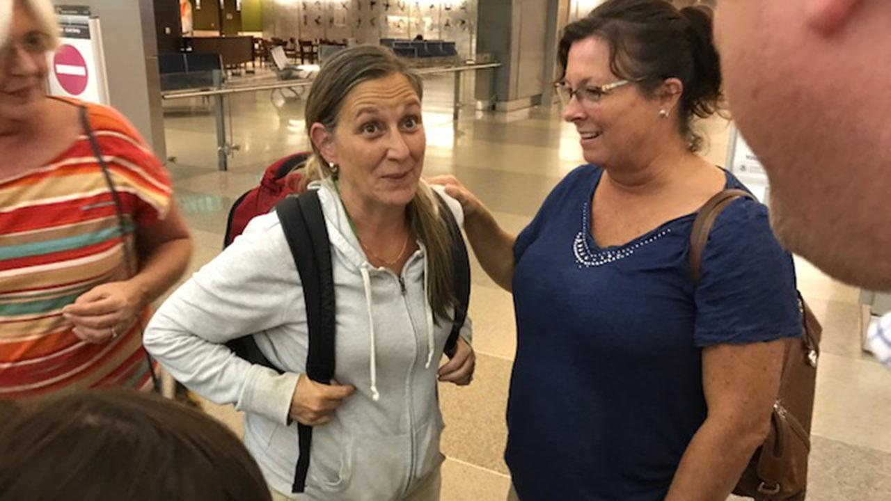 Amanda LaRoque arrives at RDU after a week-and-a-half long fight to get home from Honduras.