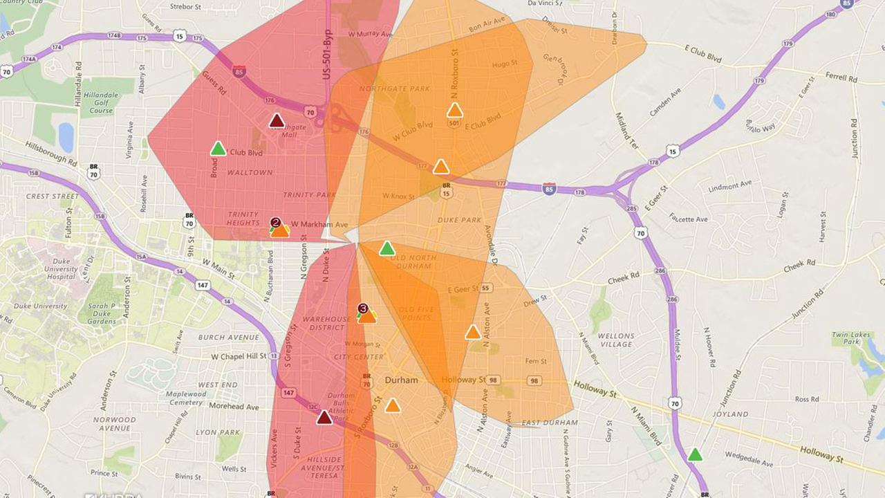 Durham Without Power For About An Hour Thursday
