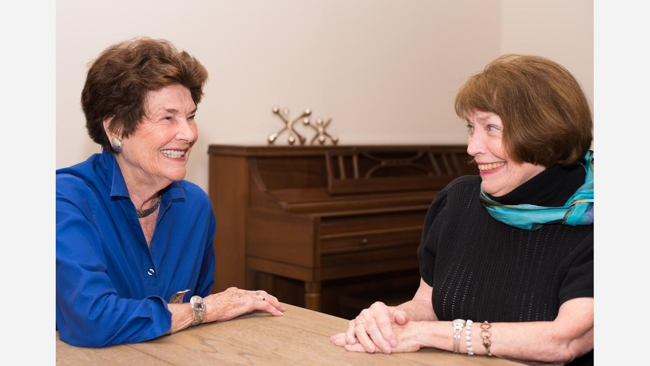 Jewell Parker, left, and Dr. Margaret Zahn