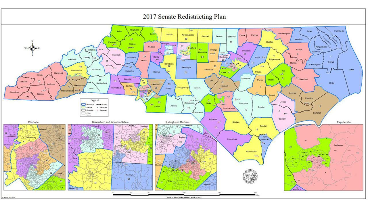 North Carolina Senate releases legislative district rewrite