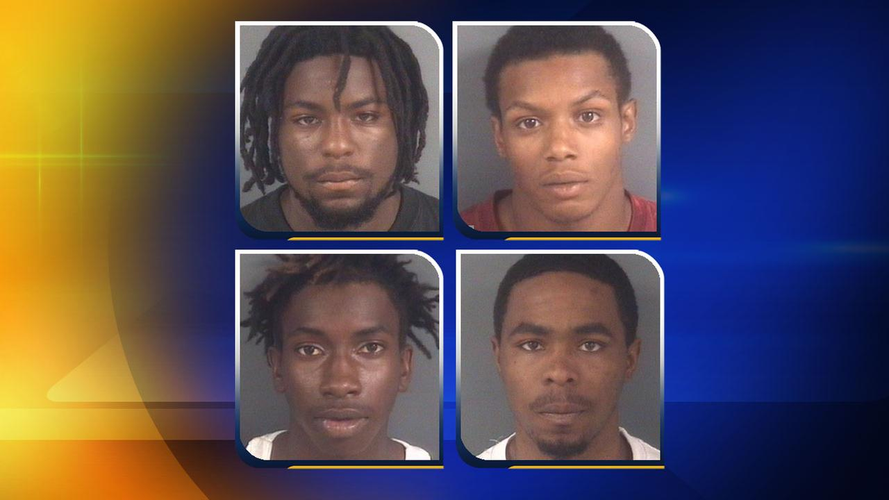21-year-old Solomon Broady, 18-year-old Jermaine Florence, 16-year-old Olander Sanders Jr., and 25-year-old Demetrius Hammonds