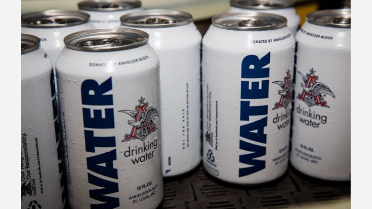 Brewery Donates 155000 Cans Of Water To Harvey Victims