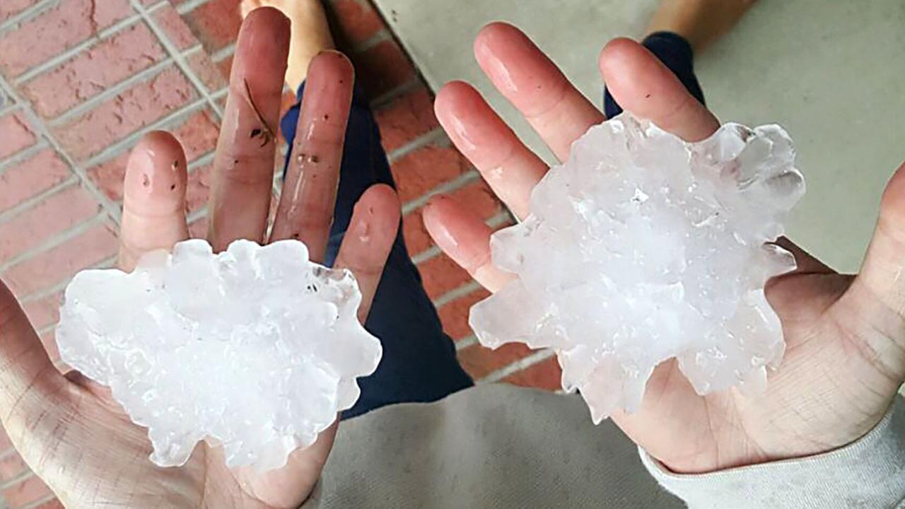 Huge hail in Fuquay-Varina.Chris Brees - ABC11Eyewitness