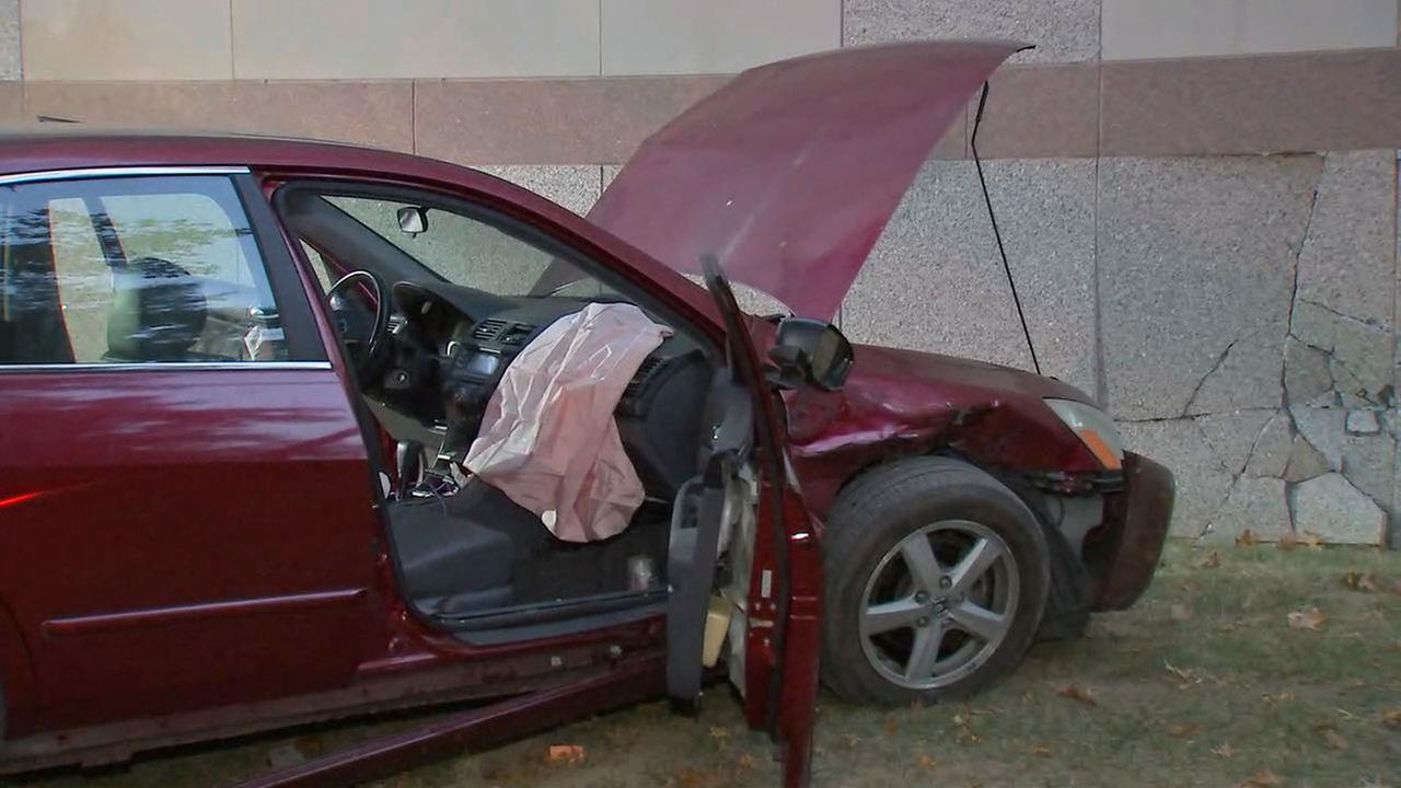 Car slams into NC Museum of History in downtown Raleigh