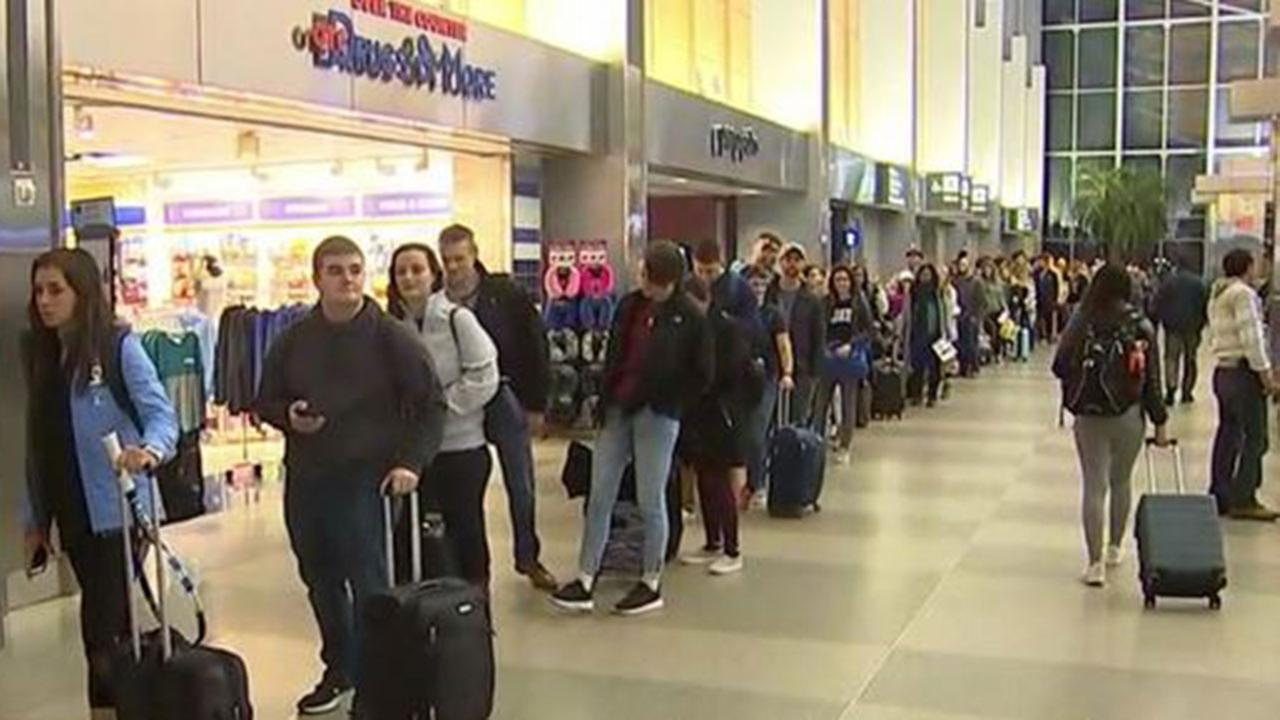 Raleigh-Durham International Airport during Thanksgiving travel rush