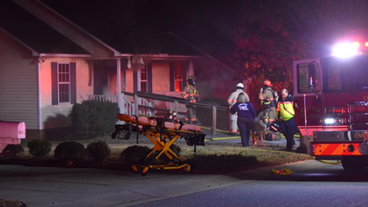Firefighters rescue disabled man from burning Clayton home