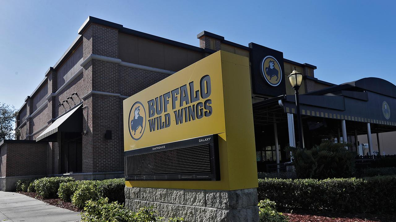 A Buffalo Wild Wings restaurant is shown Tuesday, Nov. 28, 2017, in Valrico, Fla.