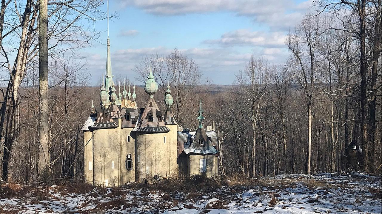 Its a dramatic home that offers a taste of Russia in Rougemont. There are turrets. Pinnacles and spires pierce through the sky.