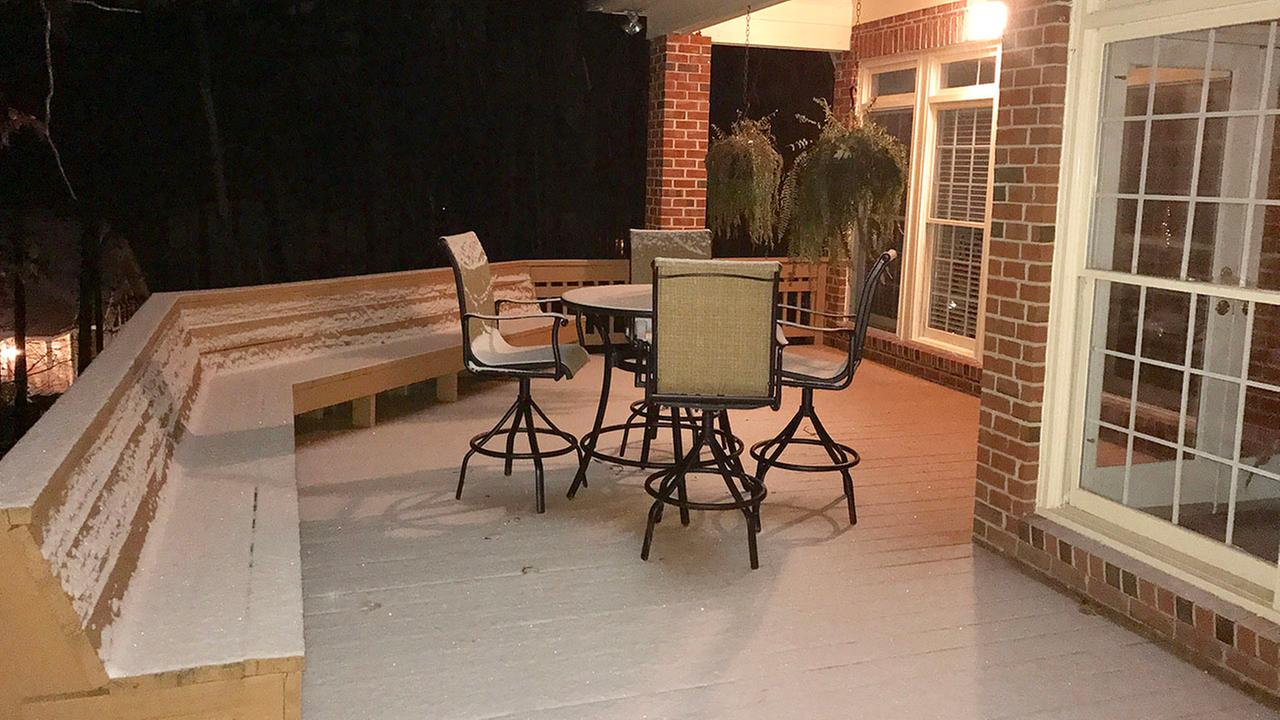 Snow in Chapel Hill about 8 p.m. Wednesday.Caroline F. Welch