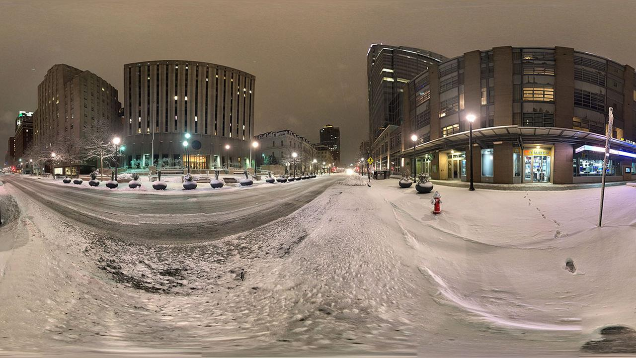 Night 360 degrees shot of downtown Raleigh.Shawn Replogle