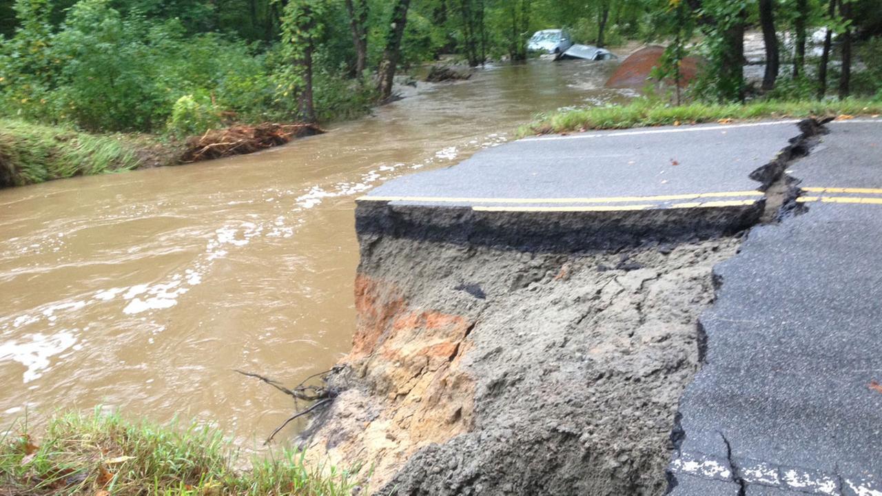 Flooding near Warrenton in Warren County