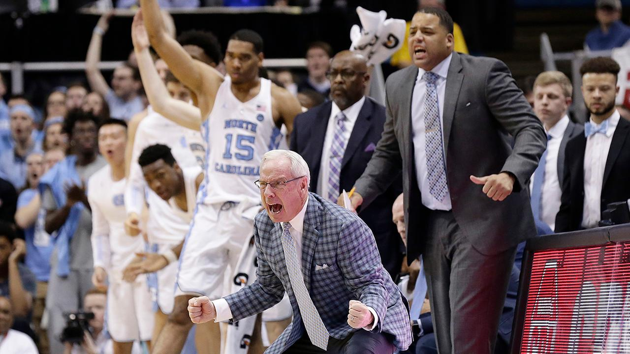 Roy Williams and the Tar Heels have reason to celebrate after an explosive second-half performance.