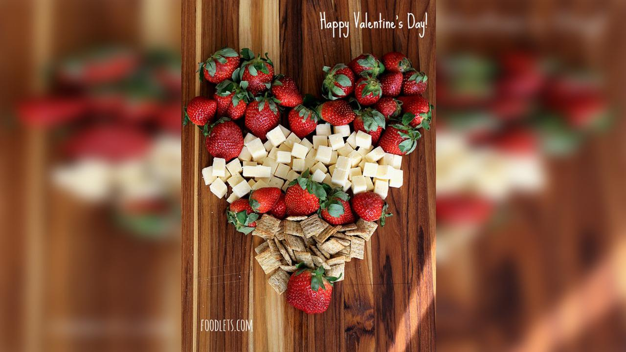 Valentine's Day recipe: Cheese and strawberry platter