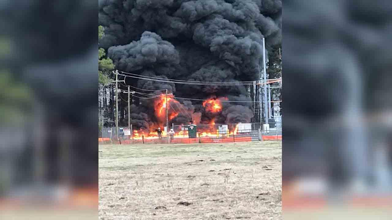 Fire crews battle fire at electrical substation in Cumberland County