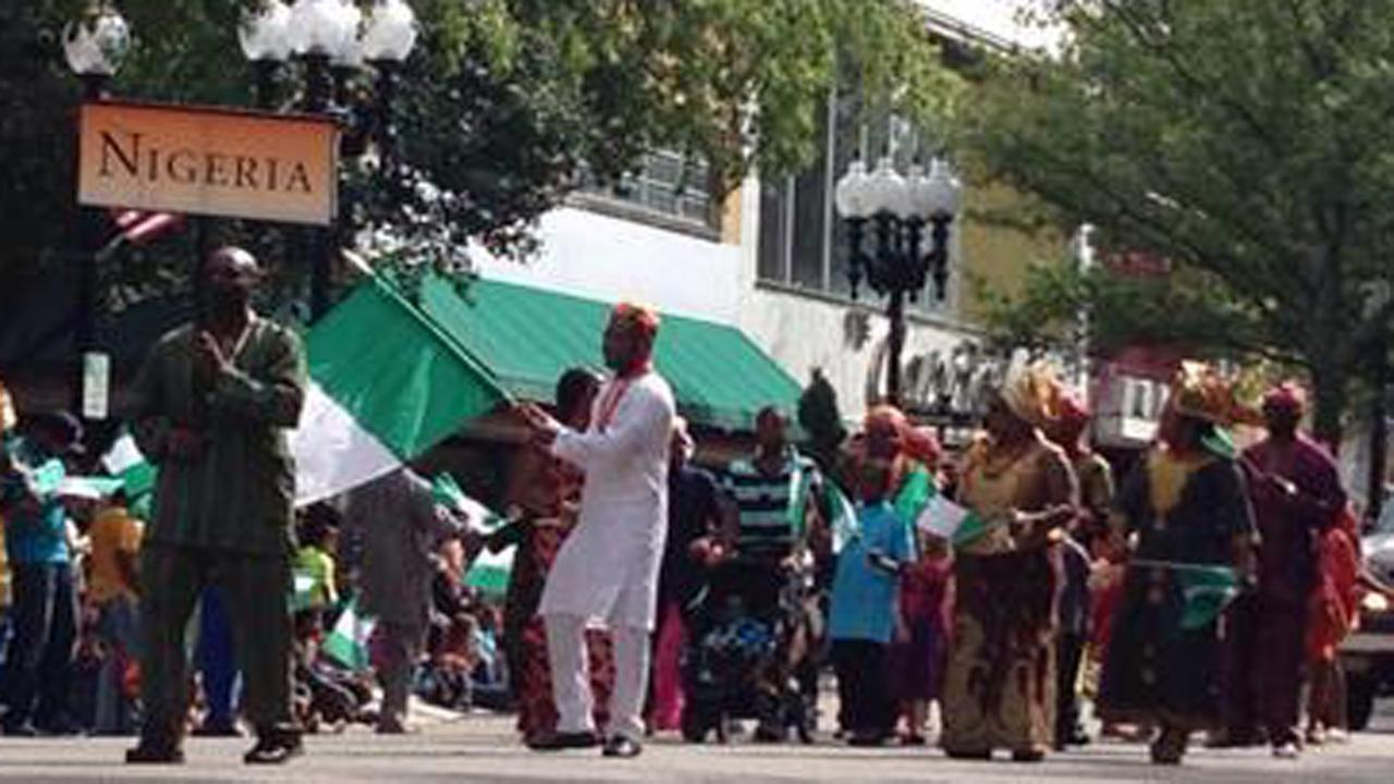 Downtown Fayetteville was alive Saturday with the International Folk Festival Parade.