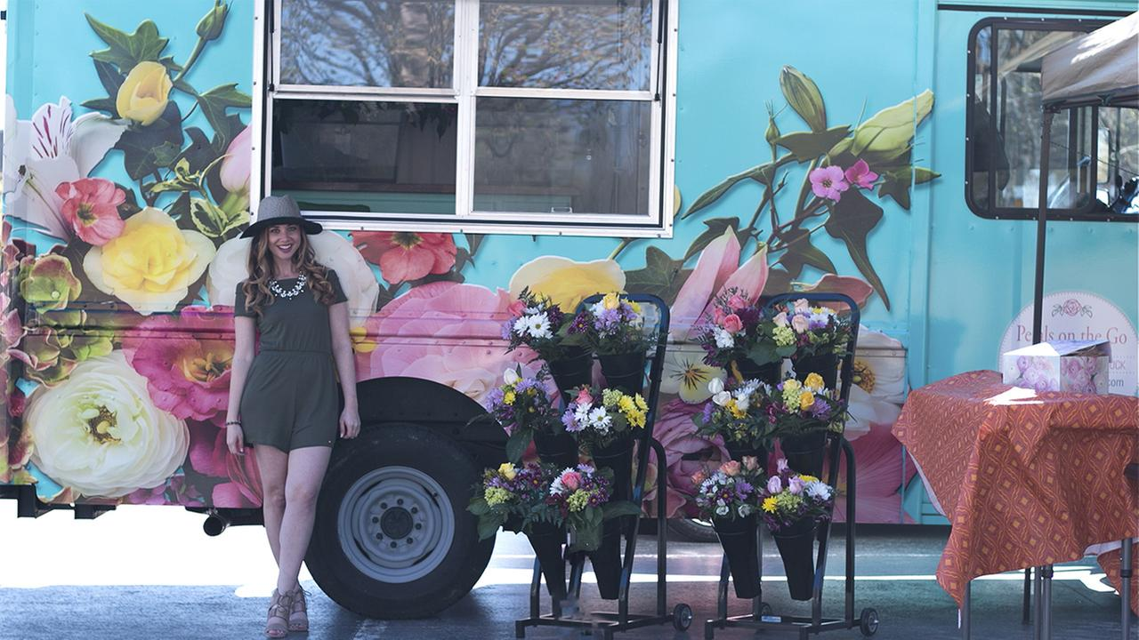 You've heard of food trucks, but what about a flower truck?