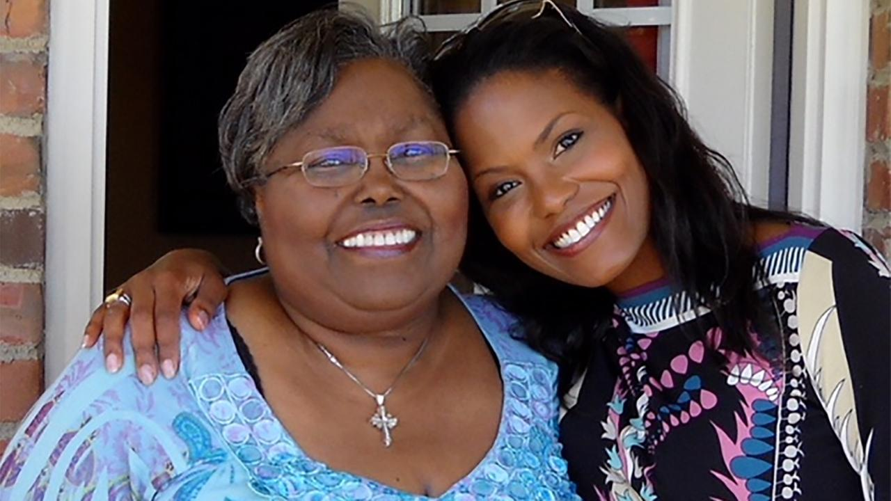 Tisha and her mother.