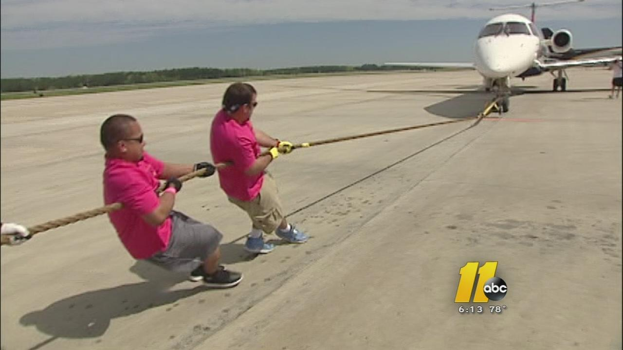 RDU plane pull raises more than $100,000 for Special Olympics North Carolina