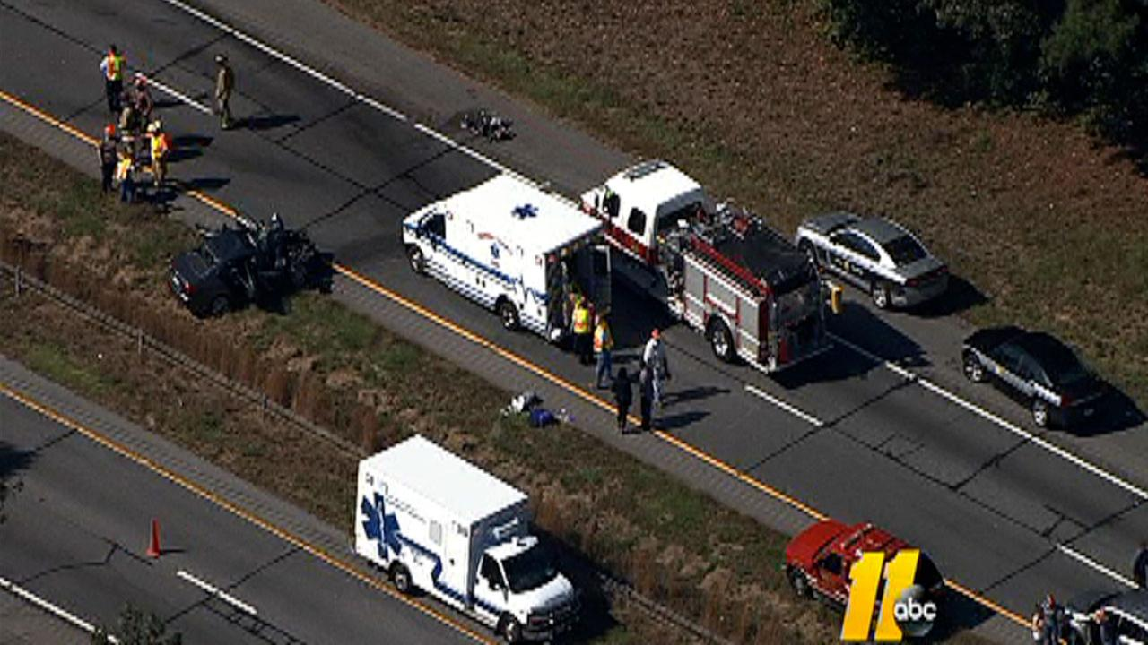 Part of I-85 shutdown due to accident near exit 228 in Warren County. Second crash reported nearby.